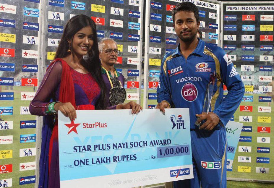 Pragyan-Ohja-Star-Plus-Award-KKR-vs-MI-IPL-2013