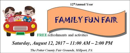 8-12 Potter County Family Fun Fair