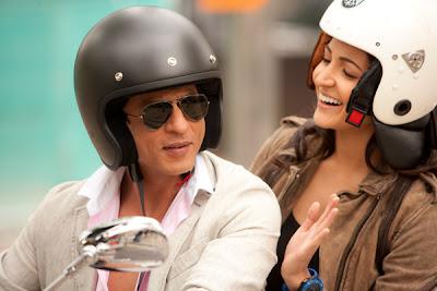 Anushka and shahrukh on bike