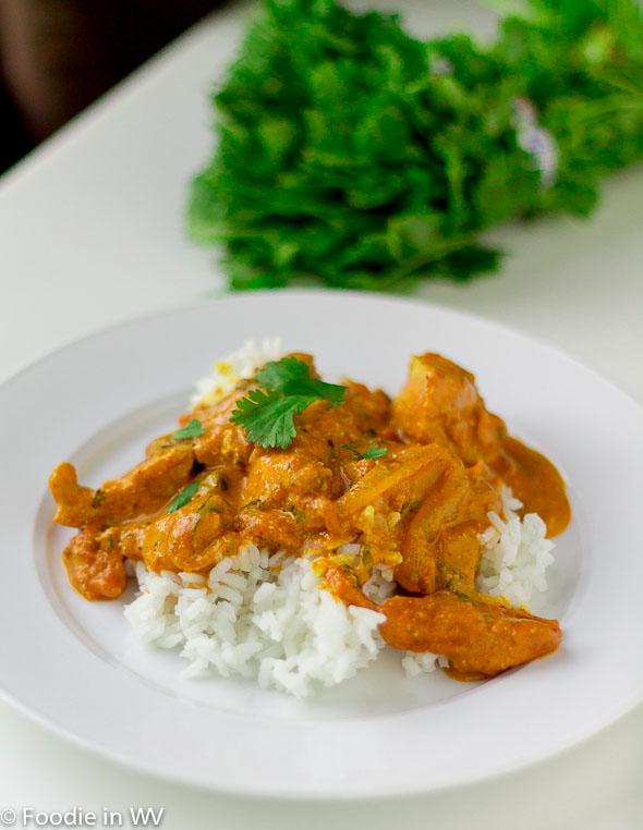 Click for Recipe for Chicken Tikka Masala Over Rice