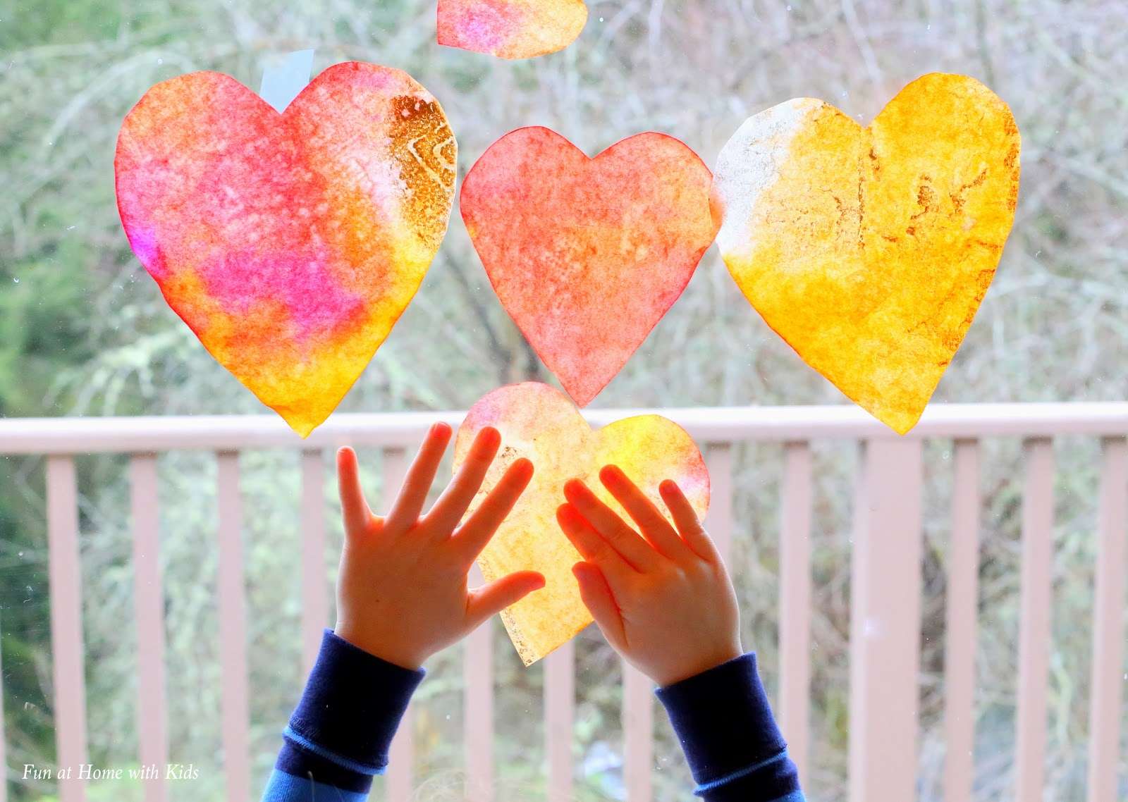 Heart Suncatcher Craft - Fun at Home With Kids