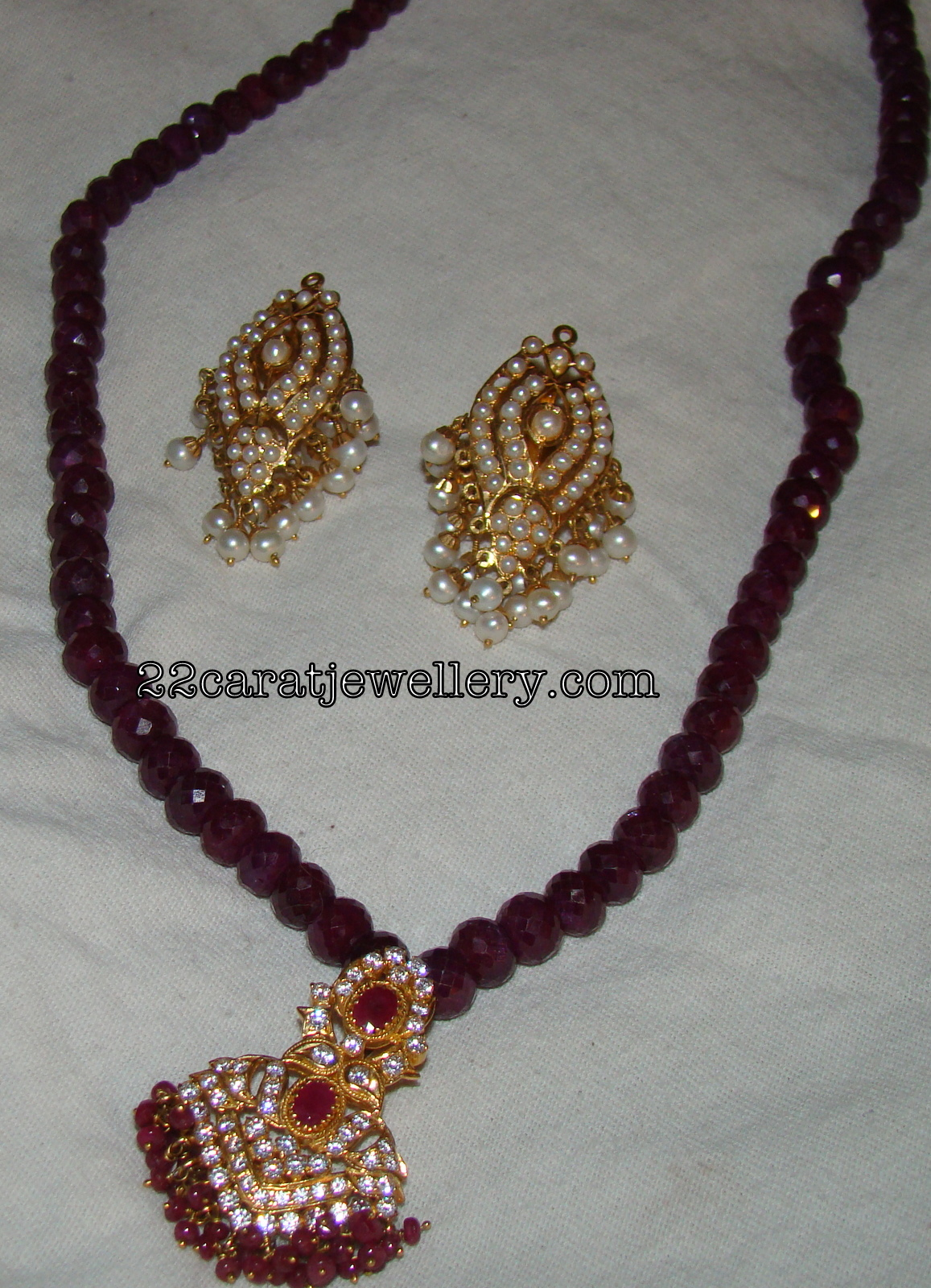 my ruby chain with cz pendant jewellery designs