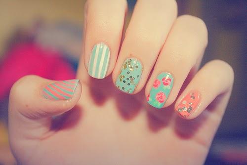 fingers flowers girl girly hands high heels love nail art nail polish
