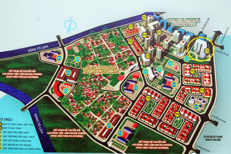 Vị trí Tòa Chung Cư CT3 Tây Nam Linh Đàm