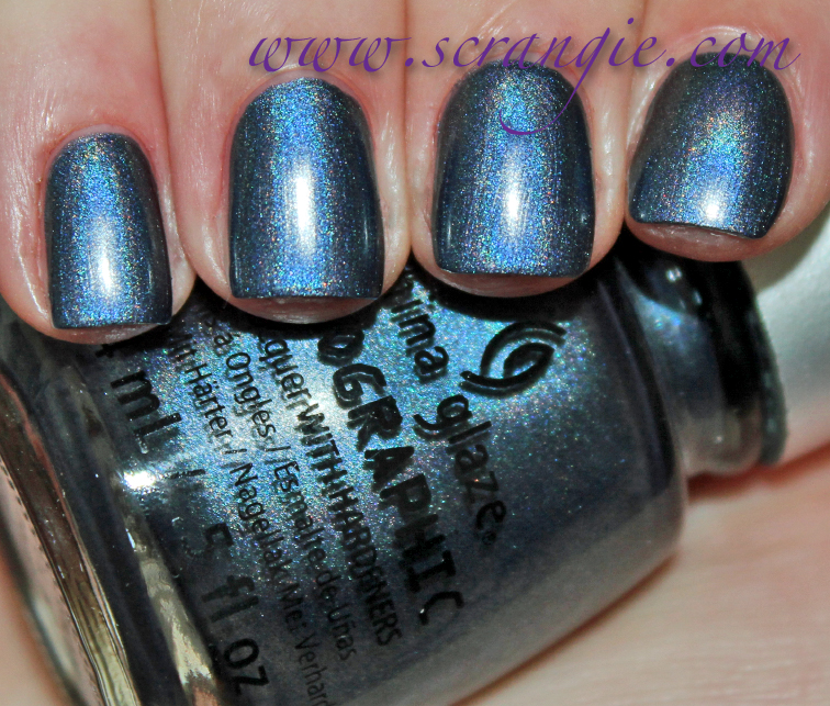 China Glaze Your Moonboots Dark Midnight Blue Holo Slightly Soft Dusty Look To The Base Color Even When Hologram Effect Is Visible