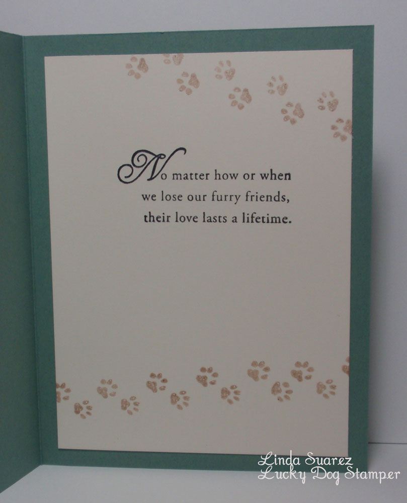 lucky dog stamper another pet sympathy card