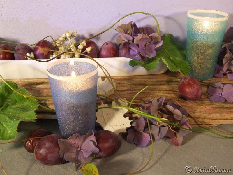 Herbstdeko mit Olivenschiffchen