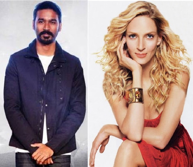 Dhanush and Uma Thurman