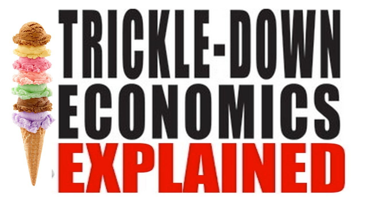 the trickle down effect Trickle-down economics began as a joke  asserting that economic growth is  most damaged by the effects of inequality on the bottom 40%.