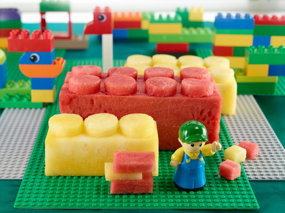 The LEGO Movie watching party ideas watermelon LEGO