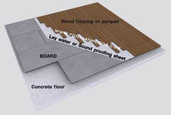 Làm sàn bao gồm các lớp như: tấm xi măng cemboard, lớp mút chống ẩm, ván gỗ