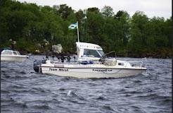Vi fiskar från en Rival 560 med en Yamaha 100hk