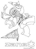 Mewarnai Gambar Ninjago Zane