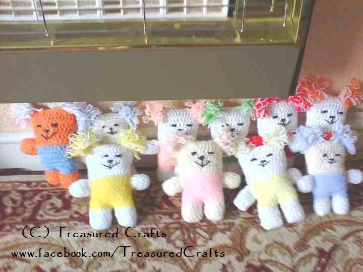 Angel Bear Knitting Pattern : Treasured Crafts: Angel Bear Knit Bears