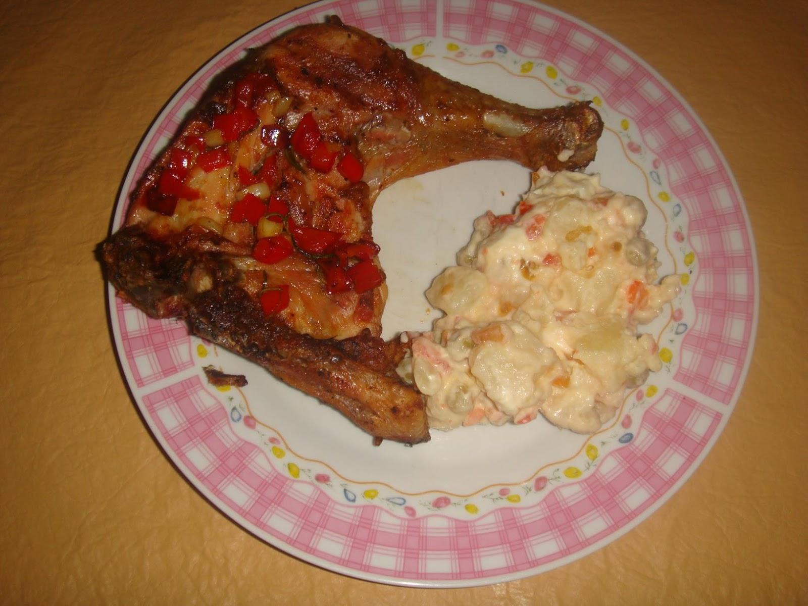 recipe: ensalada rusa con pollo al horno [18]