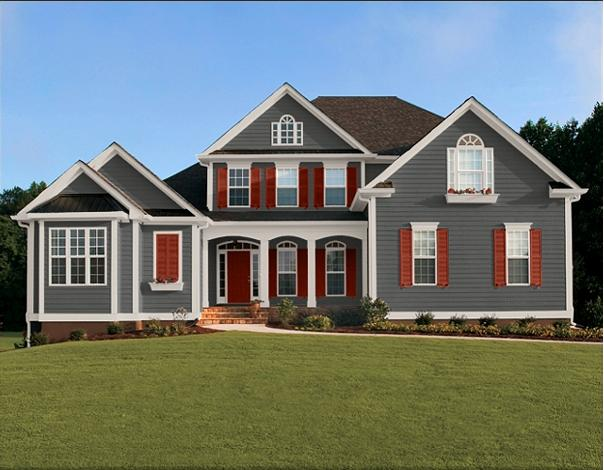 Home exterior designs exterior house paint ideas great for Modern gray house exterior