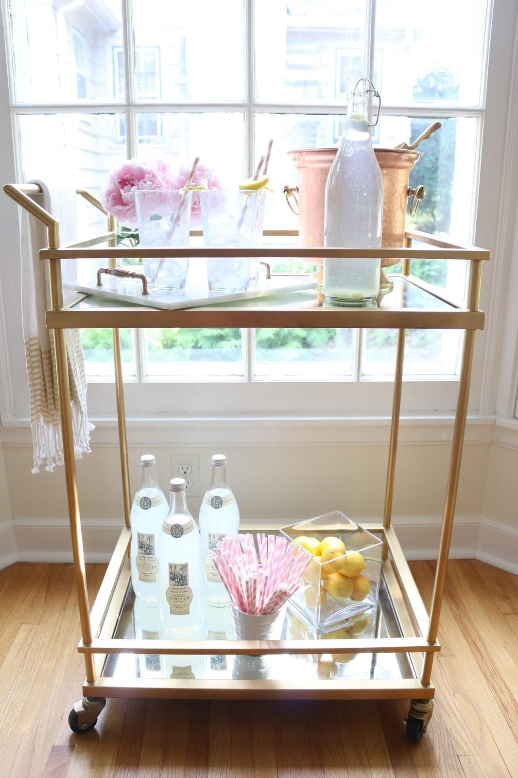 The Blissful Lane Lemonade Summer Bar Cart