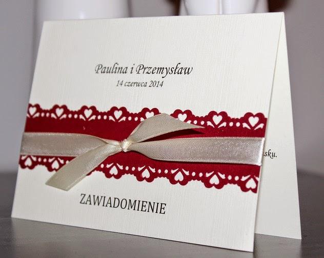 serduszkowe zaproszenia na ślub