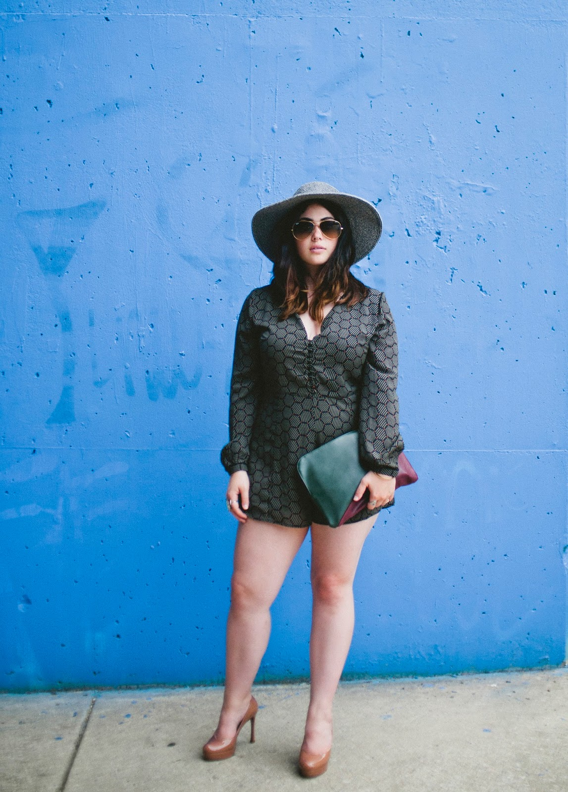 Philadelphia, fashion, blog, E.M., Ricchini, Erika, romper, anthropologie, YSL, pumps, nude,