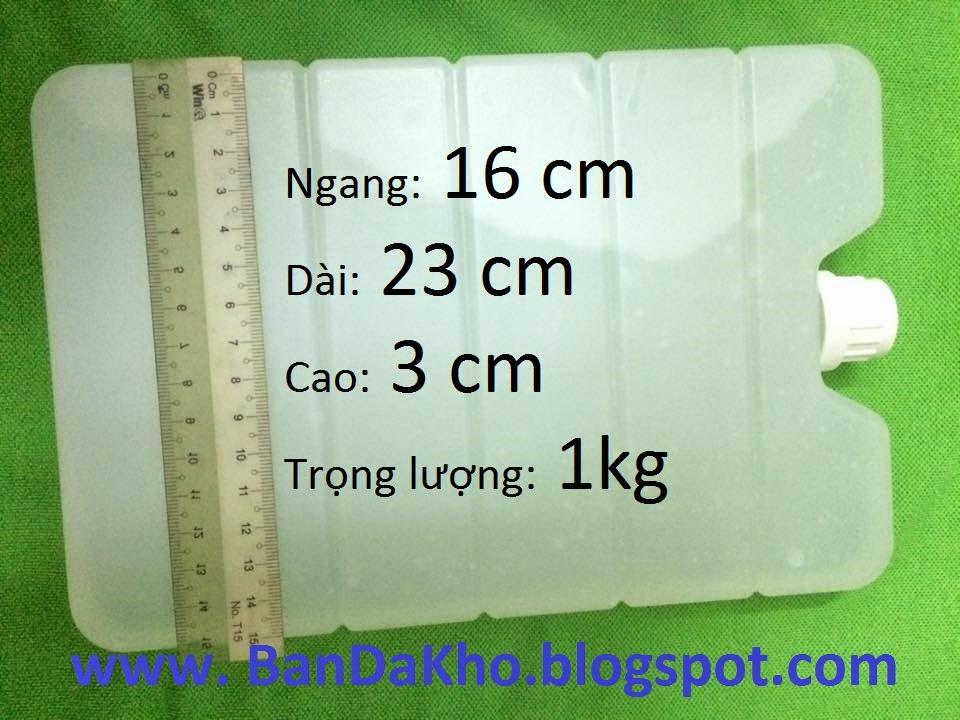 ĐÁ GEL HỘP TRẮNG - Loại 1 kg