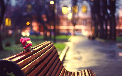Danbo on Bench