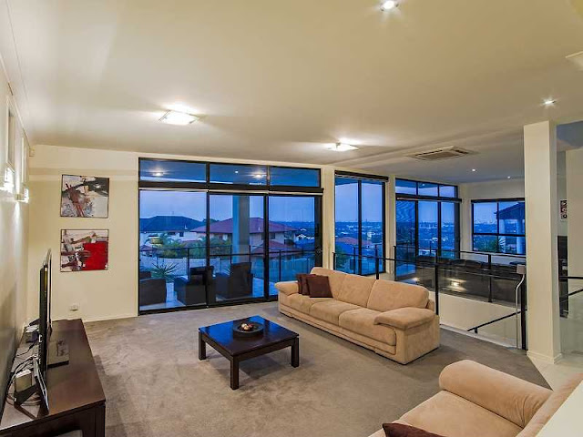 Picture of modern living room on the upper floor