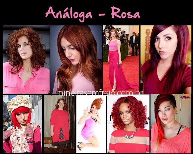 Combinando o cabelo vermelho com roupas rosas por Mineira sem Freio