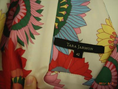 TARA JARMON - Top en soie blanc et coloré - T42 - NEUF