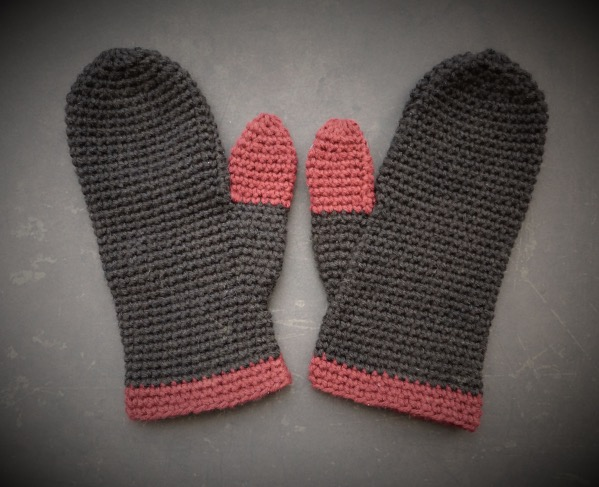 Hand Made Rukodelky Crocheted Mittens For Adults Medium Size