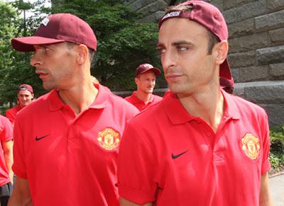Man Utd Tour USA Ferdinand Berbatov at Harvard University