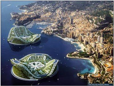 Beautiful DUBAI Lilypad Floating City