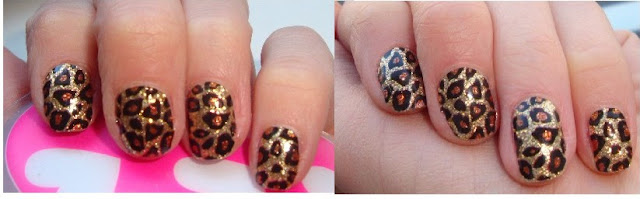 Sephora Nail Patch Art / naklejany lakier do paznokci leopard rocks