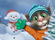 Talking Tom Playing Snowballs juego