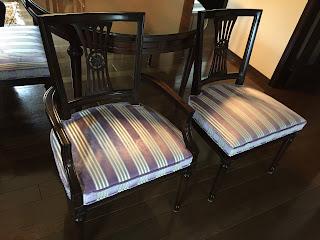 椅子の張り替え 生地:マニュエル・カノヴァス