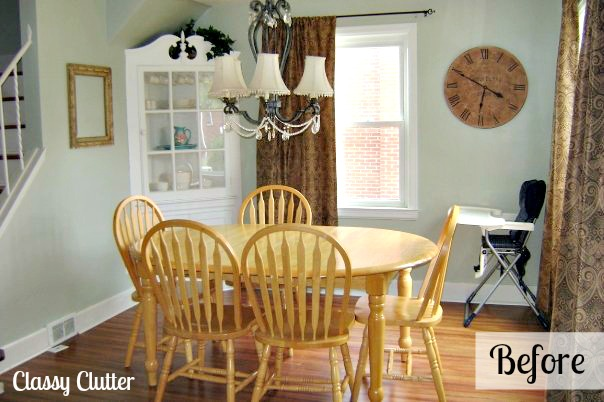 adorable dining room and dining set makeover - classy clutter