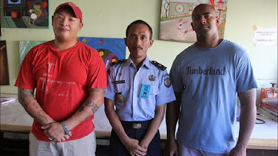 Andrew Chan, Myuran Sukumaran in Kerobokan's painting workshop