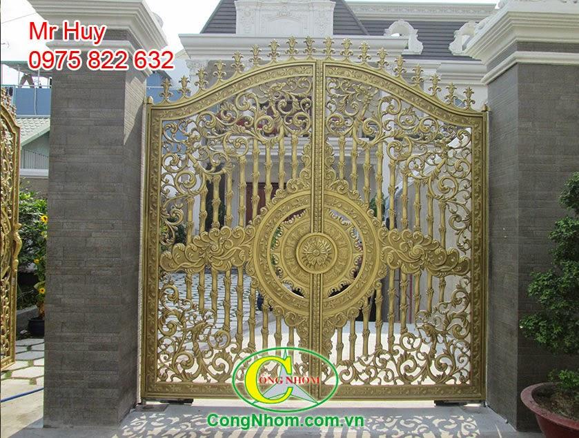 cổng hợp kim nhôm đúc