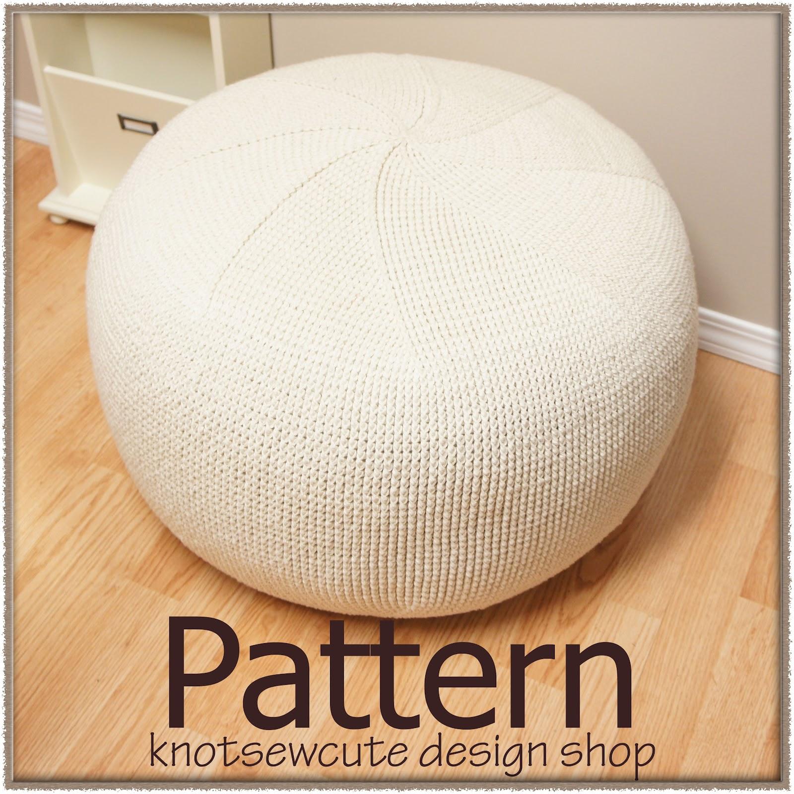 Knot sew cute design shop new crochet pattern pinwheel pouf by tara schreyer - Crochet pouf ottoman pattern free ...