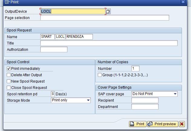 SAP SAMPLE: Passing Parameter to SAP Smartforms Part II
