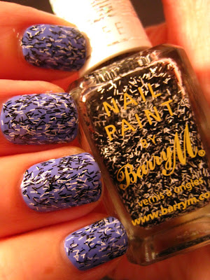 Electric-Purple-nail-polish-Barry-M-Confetti-Liquorice-Black-White
