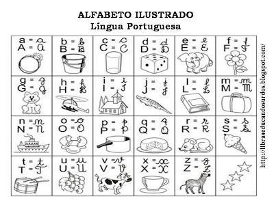 Alfabeto Ilustrado para Alfabetização Infantil - Imprimir