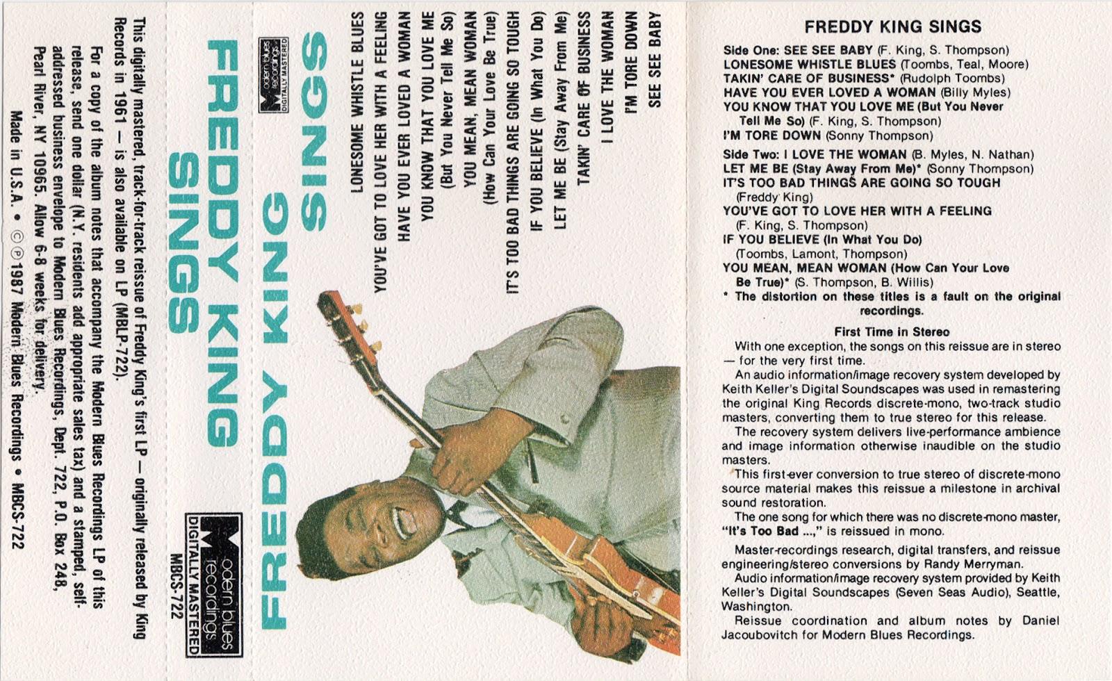 Cassette Cover Art Library: Freddie King