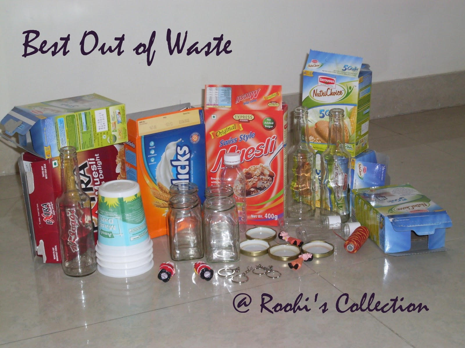 Roohi 39 s collections best out of waste workshop in pune for Best out of waste for class 1