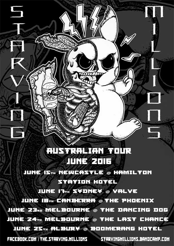 Starving Millions Aussie Tour
