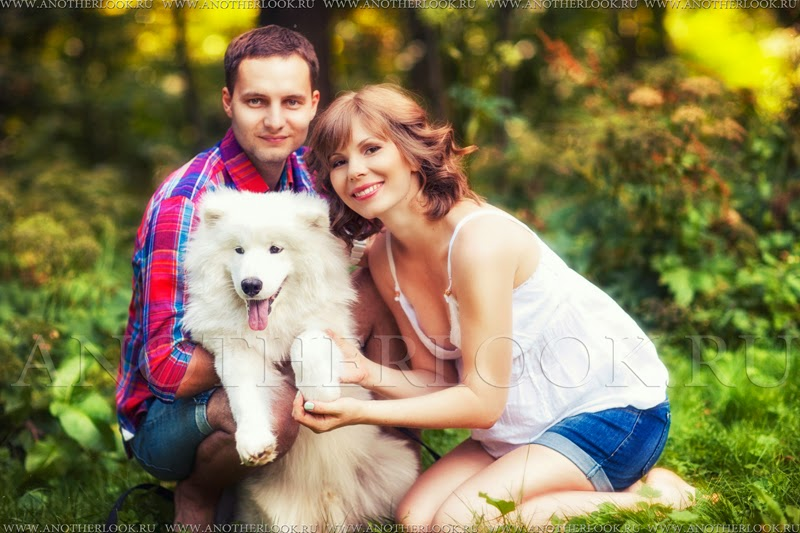 Семейная фотосессия с собакой