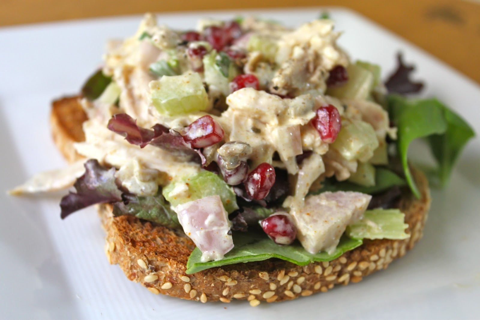 Domestic Divas Blog: Pomegranate Tarragon Chicken Salad Sandwiches