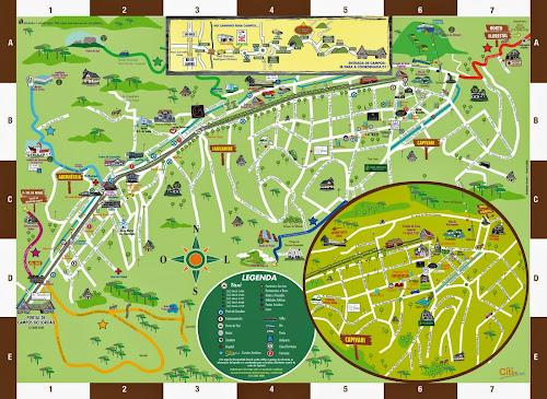 Mapa turístico Campos do Jordão