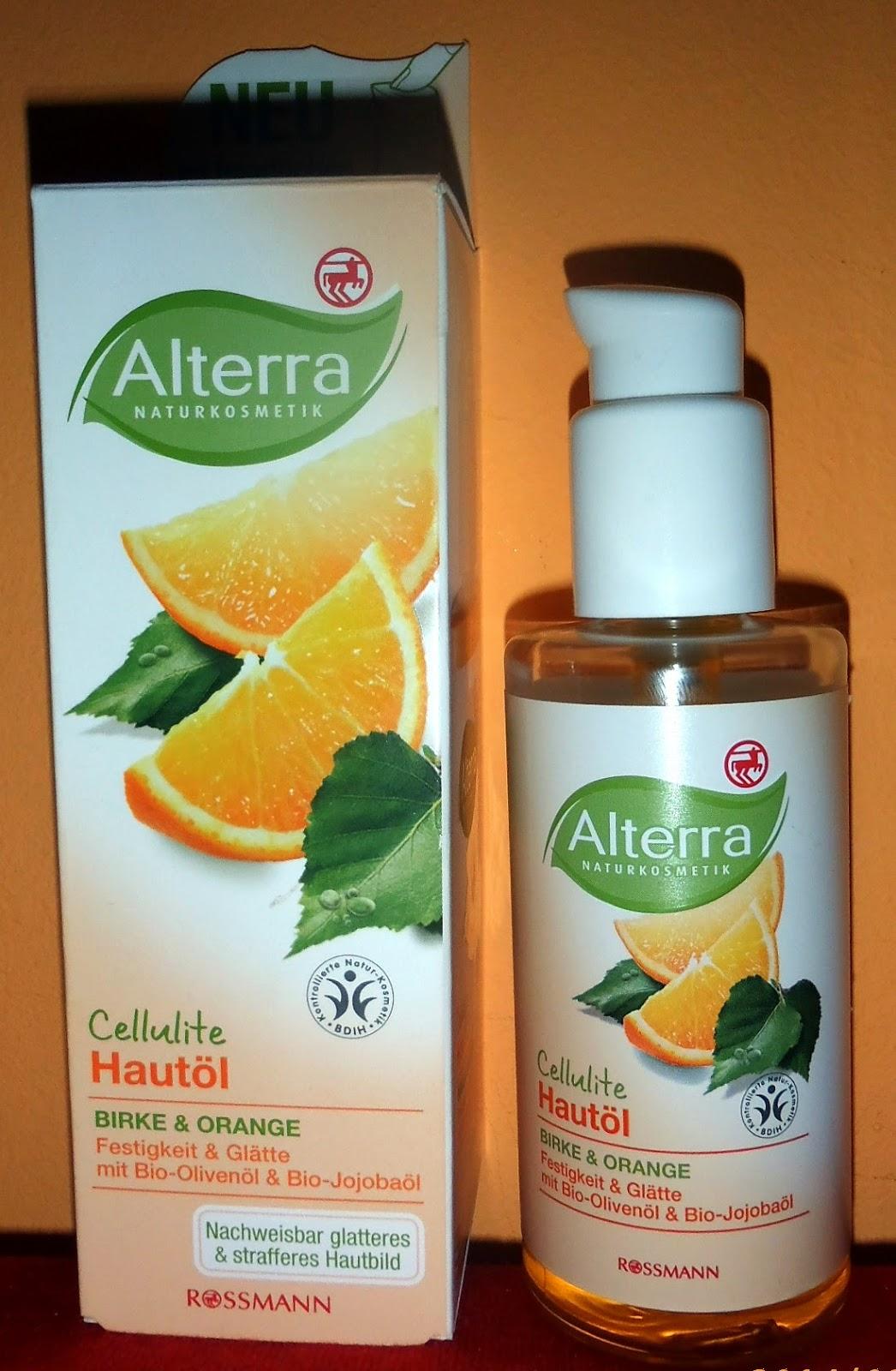 Alterra Cellulite - olejek do ciała brzoza i pomarańcza