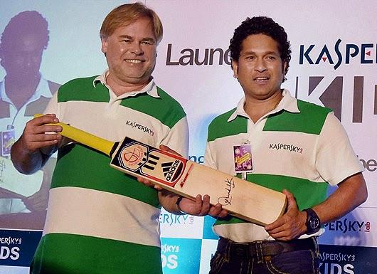 Sachin Tendulkar & Eugene Kaspersky launch 'Kaspersky Kids'