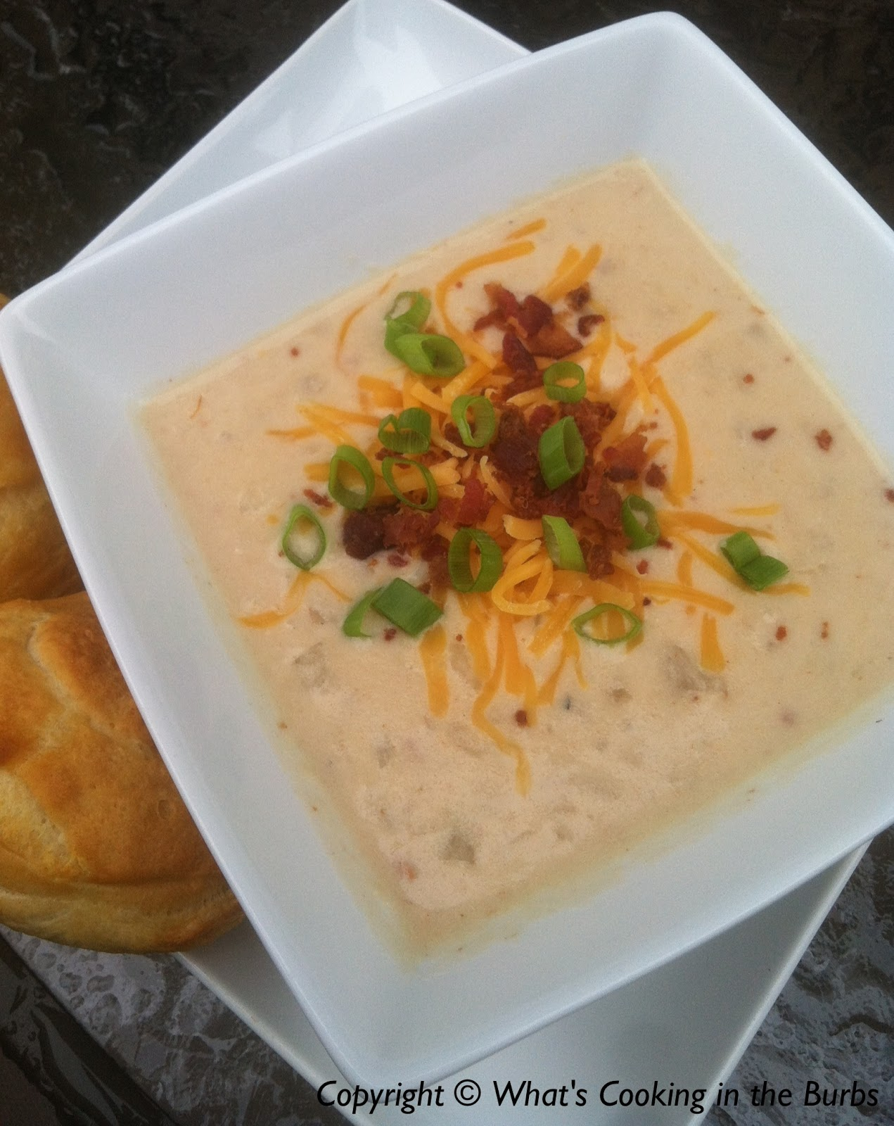 What's cooking in the burbs: Spicy Cream Cheese Potato Soup